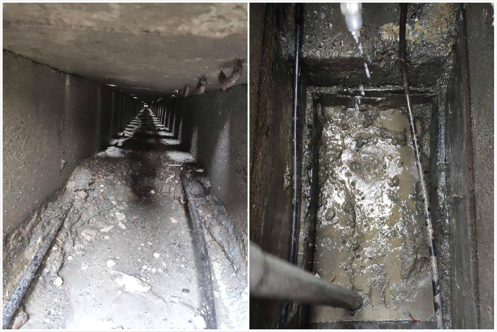 高壓水刀清洗水溝淤泥1.jpg
