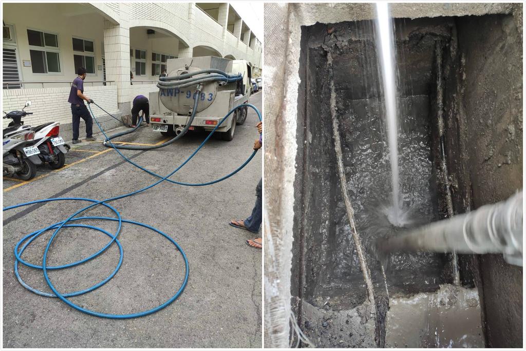 高壓水刀清洗水溝淤泥2.jpg