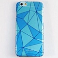 Aprolink iPhone6-藍-幾何透明-硬殼背蓋