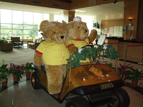 長安球場可愛的熊