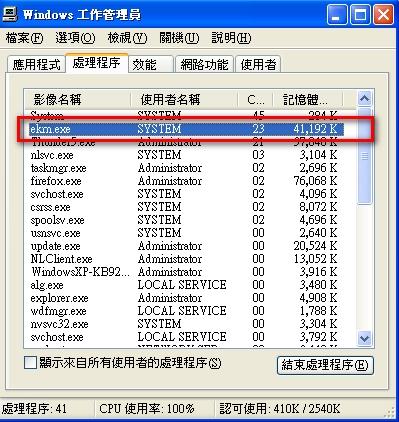 ekrn 佔用CPU