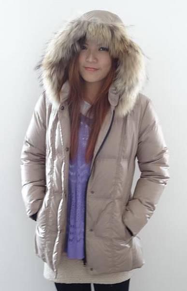#03017女裝中長版羽絨外套, 杏 售價3980元 11