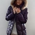 #03017女裝中長版羽絨外套, 紫 售價3980元 1