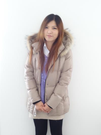 #03017女裝中長版羽絨外套,杏 售價3980元 8