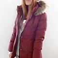 #03017女裝中長版羽絨外套,紅 售價3980元 7