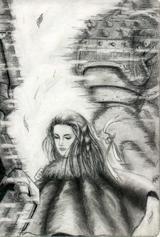 雙鷹與少女