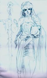 草圖  華麗女武者