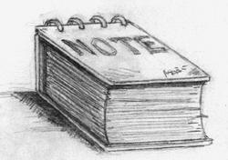 ▓鏡之國]超厚筆記本(2001;以鉛筆繪;原圖極小)