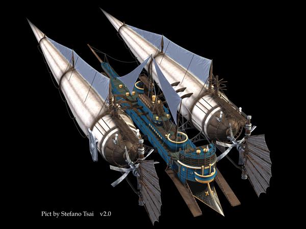 ▓殛天之翼的雙體飛船