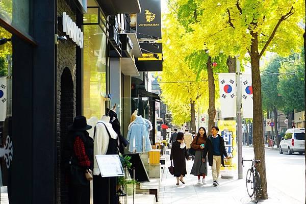 首爾自由行-首爾買衫好去處-潮流時尚大街-新沙洞林蔭大道.jpg