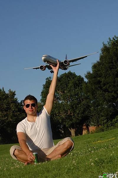 我抓住飛機了