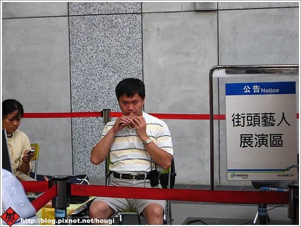 貓纜站旁的街頭藝人