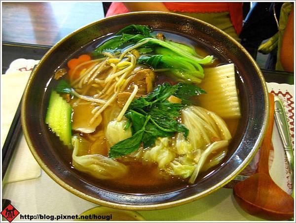 植善的中式料理---羅勒猴菇拉麵