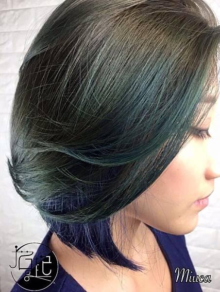 墨綠色✖️深藍