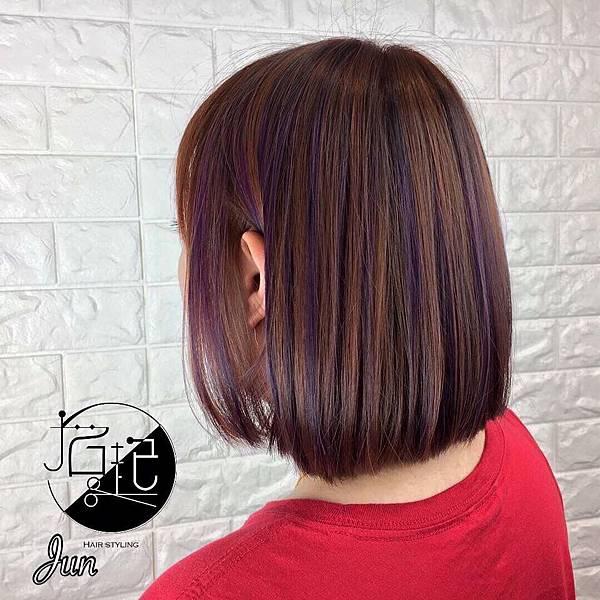 可可挑染紫