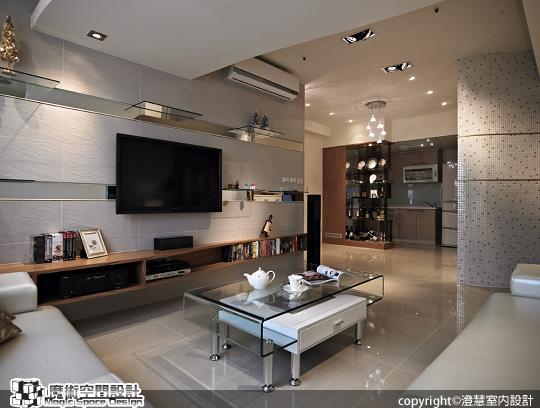 [魔術空間設計]室內設計作品-澄慧設計-解博淳-太極創造安定能量,曲線平緩了生活動線