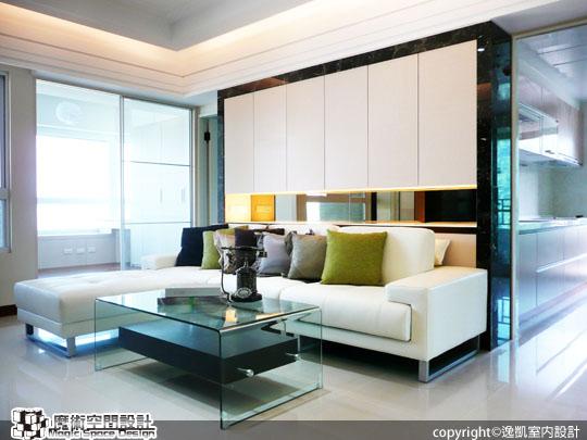 [魔術空間設計]室內設計作品-逸凱室內設計-張凱榮 -清印素雅簡約空間