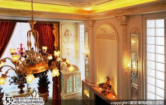 [魔術空間設計]室內設計作品-鄭閎澤精緻室內設計-鄭閎澤-時尚豪宅中 遇見德式洛可可風格的極緻品味
