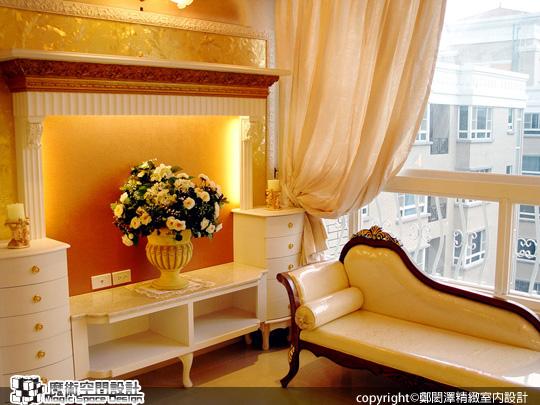 [魔術空間設計]室內設計作品-鄭閎澤精緻室內設計-鄭閎澤-在現代大廈中 驚喜遇見白色法式小豪宅