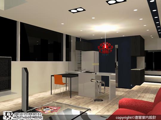 [魔術空間設計]室內設計作品-澄慧室內設計-13坪樓中樓 享有全機能、大視野的都會生活
