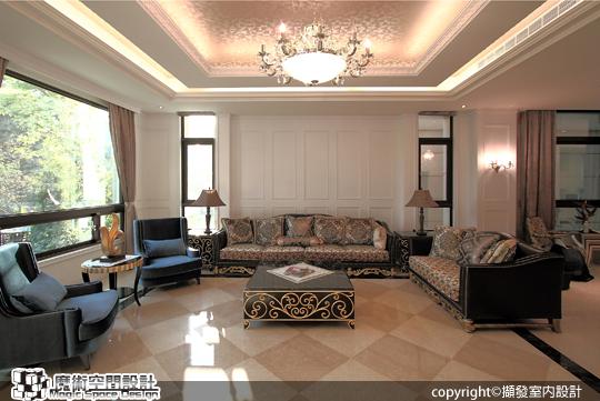 [魔術空間設計]室內設計作品-擷發室內設計-林木發 -六星級豪宅 實現美麗人生的奢華別墅