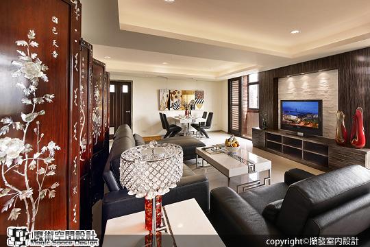 [魔術空間設計]室內設計作品-擷發室內設計-林木發 -延續三十年的好風水 創造時尚新居好品味