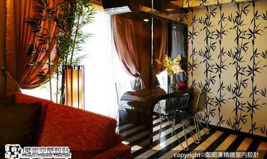 [魔術空間設計]室內設計作品-鄭閎澤精緻室內設計-13坪長型格局屋 創造竹海意境的自在好宅