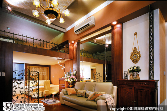 [魔術空間設計]室內設計作品-鄭閎澤精緻室內設計-鎏金映象˙坐擁碧湖美景的古典小豪宅