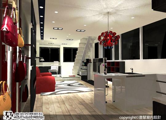 [魔術空間設計]室內設計作品-澄慧設計-解博淳- 13坪樓中樓 享有全機能、大視野的都會生活