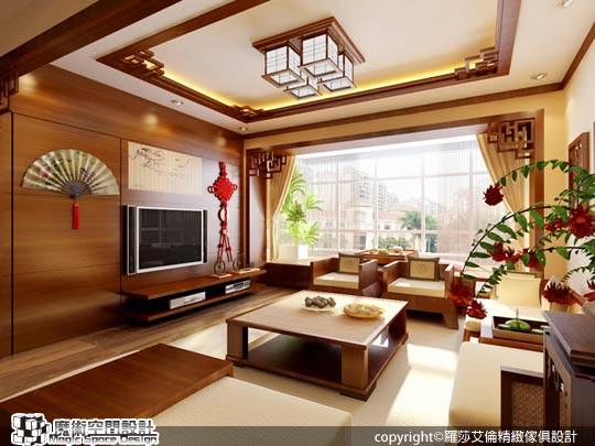 [魔術空間設計]3D室內設計作品-羅莎艾倫精緻傢俱設計-[3D動畫]訂製傢俱打造專屬的中式古典居家