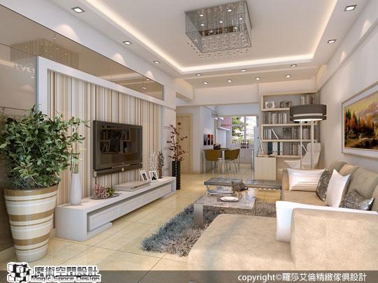 [魔術空間設計]3D室內設計作品-羅莎艾倫精緻傢俱設計-訂製傢俱融入成就完美的奢華風範