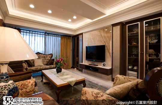 [魔術空間設計]室內設計作品-五富室內設計-郭明福-巧妙設計樓中樓 住出英式古典與現代簡約的二代和諧格局