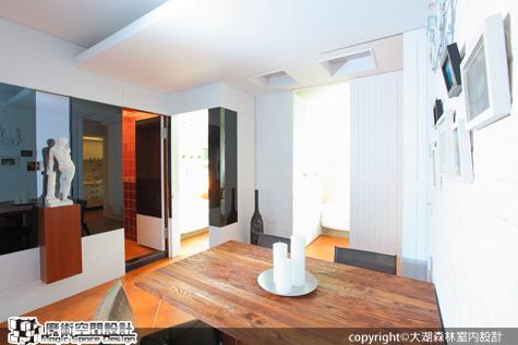 [魔術空間設計]室內設計作品-大湖森林室內設計-柯竹書-小坪數老住宅大翻身 變成優雅白色度假屋