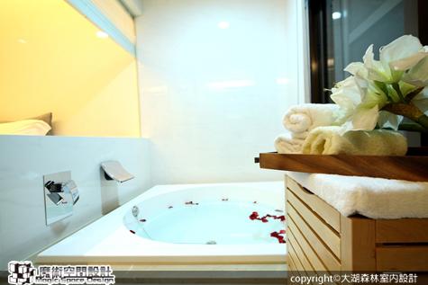 [魔術空間設計]室內設計作品-大湖森林室內設計-柯竹書-12坪小屋大享受  超寬二房一廳,再加碼SPA浪漫大浴室