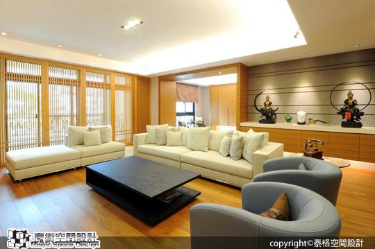 [魔術空間設計]室內設計作品-泰格空間設計-呂政泰-東方禪風設計 融入簡約機能 良好採光讓空間動線更放鬆