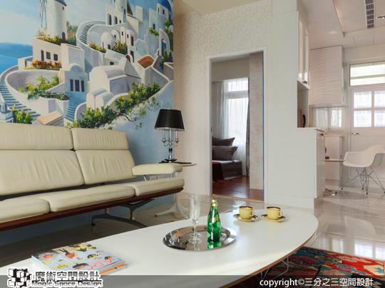 [魔術空間設計]室內設計作品-三分之三空間設計-希臘地中海風格設計 浪漫感十足天天像度假