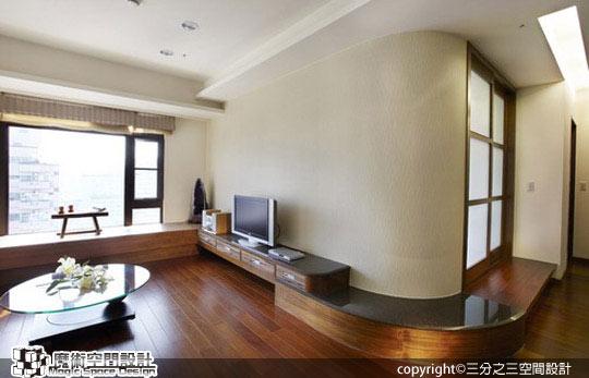 [魔術空間設計]室內設計作品-三分之三空間設計-現代禪風設計超強收納空間 放大視覺禪意滿室