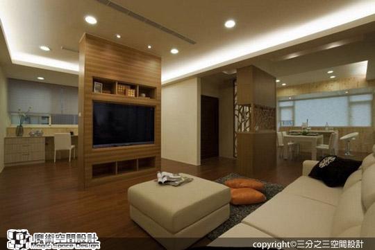 [魔術空間設計]室內設計作品-三分之三空間設計-現代簡約設計混搭禪風 調和出的美式居家休閒風格