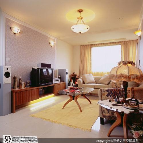 [魔術空間設計]室內設計作品-三分之三空間設計-黃郁隆-歐風舊傢飾改頭換面  老屋翻新省錢有一套