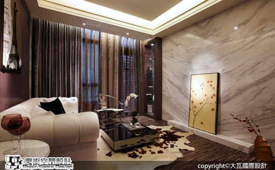 [魔術空間設計]室內設計作品-大瓦國際設計-李孝強-奢華時尚風格私人行館  科技新貴放鬆休息的好處所