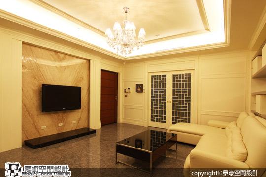 [魔術空間設計]室內設計作品-景漾空間設計公司-許沛濬-簡約新古典風 三代同堂分層設計,生活品味不打折