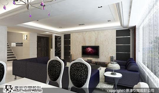 [魔術空間設計]室內設計作品-景漾空間設計公司-許沛濬-低調新古典風 知性奢華美學,提升複式別墅的格調與尊貴