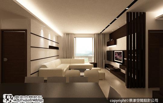 [魔術空間設計]室內設計作品-景漾空間設計公司-許沛濬-現代簡約風格 對比色彩、簡單線條,勾勒品味的層次與內涵