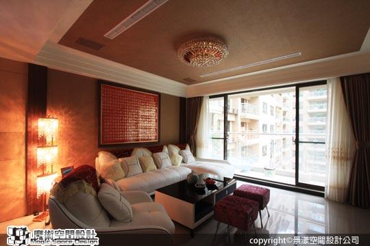 [魔術空間設計]室內設計作品-景漾空間設計公司-許沛濬-中式現代風格 東方風水設計與西方時尚設計,創造幸福能量宅