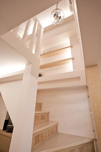 [魔術空間設計]室內設計作品-堂藝時尚空間設計-謝俊安-十五坪挑高樓中樓 變身三房歐式鄉村風格的簡約機能住宅