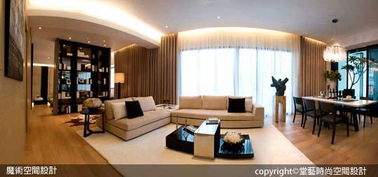 [魔術空間設計]室內設計作品-堂藝時尚空間設計-謝俊安-現代禪風「零隔間」設計 透氣更舒活