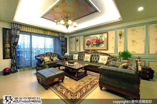 1[魔術空間設計]室內設計作品-泰格空間設計公司-呂政泰-穩重高貴維也納 完整生活機能的歐洲古典風格豪宅