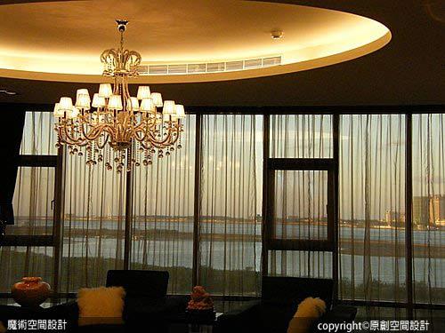 [魔術空間設計]室內設計作品-原創空間設計-透天別墅開天井 現代時尚豪宅設計亮點十足