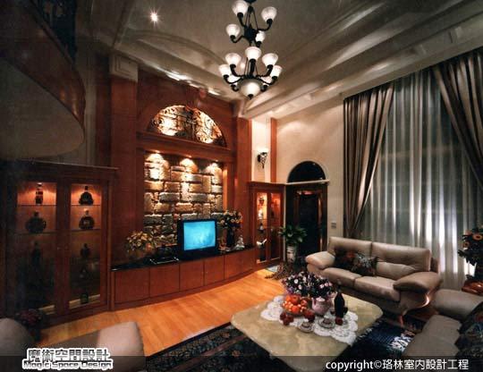 [魔術空間設計]室內設計作品-珞林室內設計工程-黃進部-新古典風格挑高豪宅 華麗指數破表!