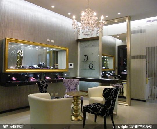 [魔術空間設計]室內設計作品-原創空間設計-林士翔 -珠寶店面設計 流行維多利亞古典風